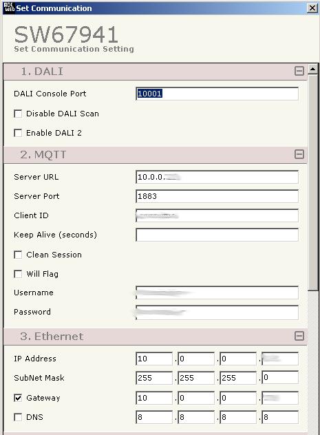 MQTT-DALI Communication