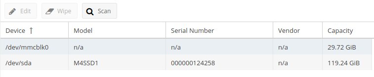 Pi-NAS - Nastavení disků