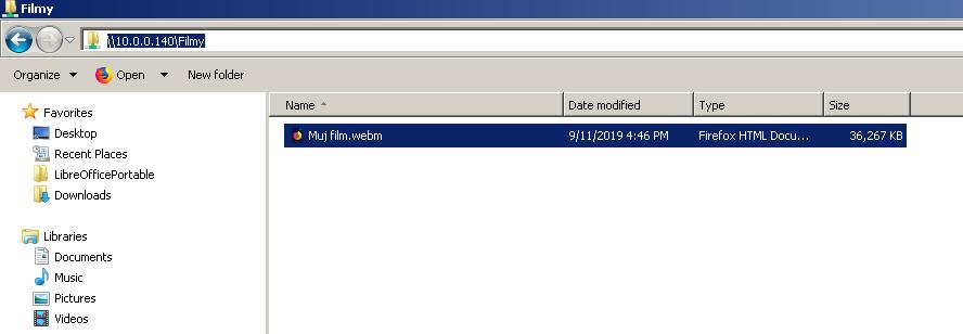 Pi-NAS - Načtení sdílené složky